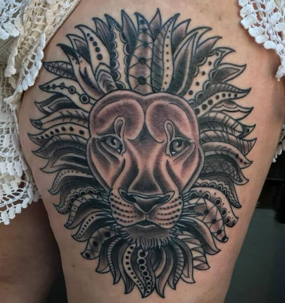 100 Realistic Lion Tattoos For Men 2019 Tribal Traditional