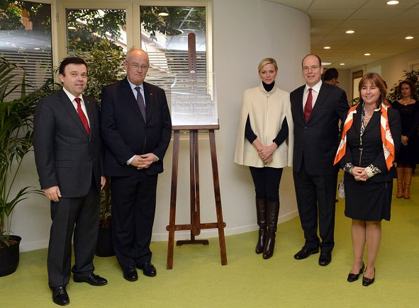 Princess Charlene attended the inauguration of the new premises of the Home Therapy Part Time Centre in Monaco