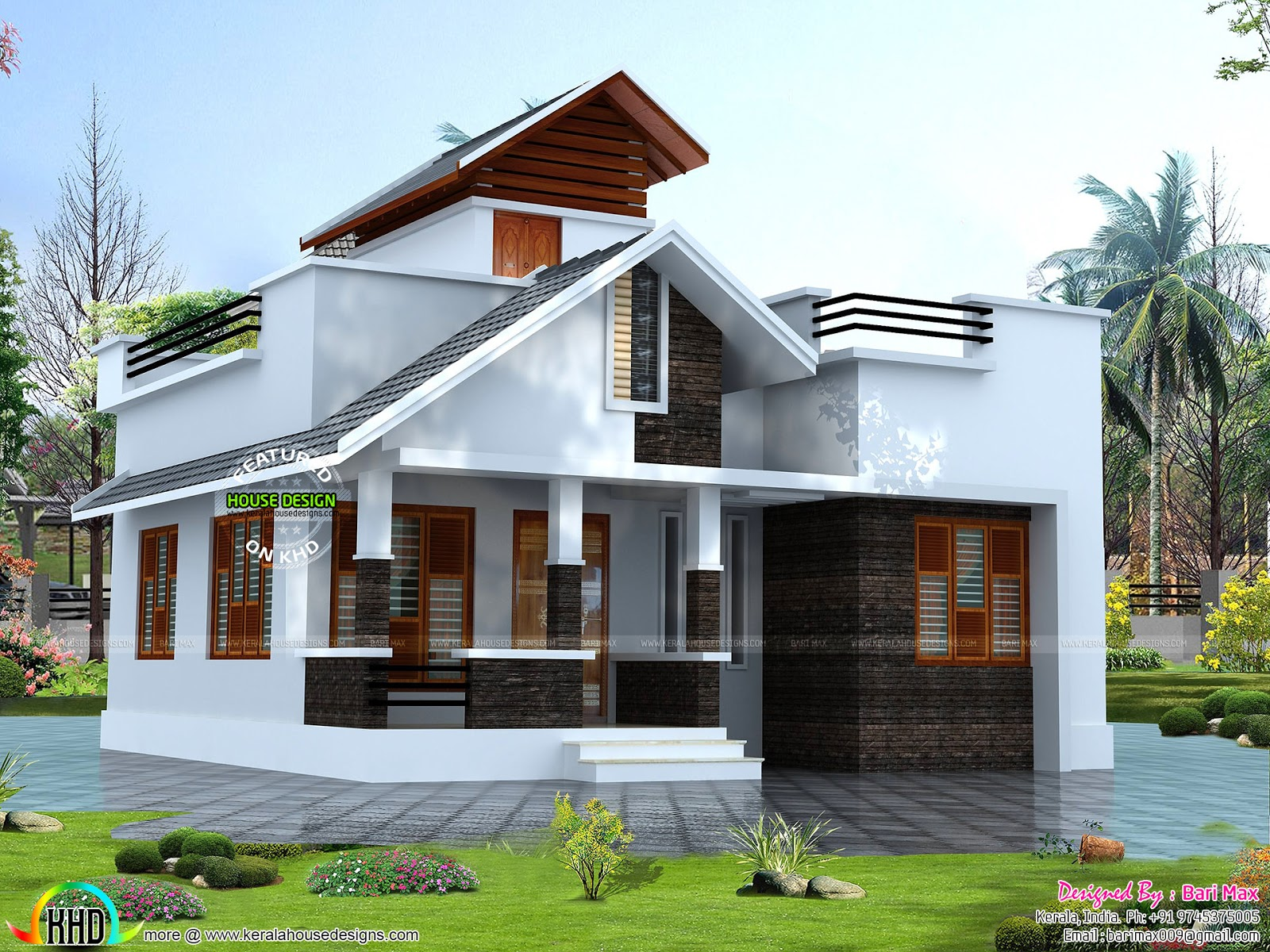 Rs 12 lakh house architecture kerala home design Arch design indian home plans