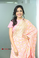 Actress Ritu Varma Pos in Beautiful Pink Anarkali Dress at at Keshava Movie Interview .COM 0045.JPG