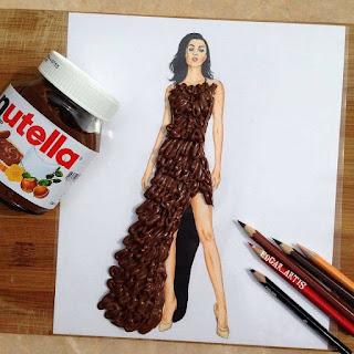 رسمة للفنان إيدجر باستخدام شوكولا نوتيلا