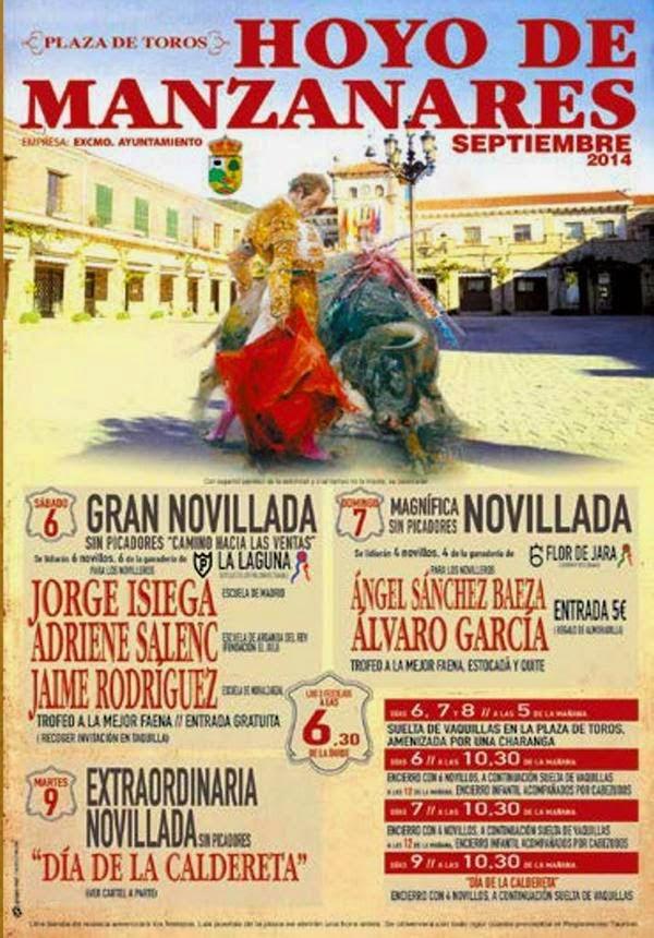 HOYO DE MANZANARES SUS FESTEJOS TAURINOS DEL 6 AL 9