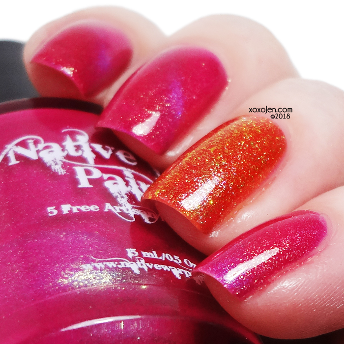 xoxoJen's swatch of Native War Paints Magnetizing Sunsets