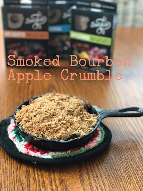 Smoked Bourbon Apple Crisp