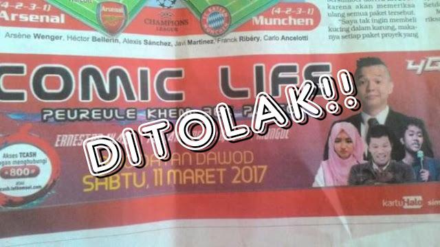 Tegas, Rakyat Aceh Tolak Ernest dan Mongol Tampil