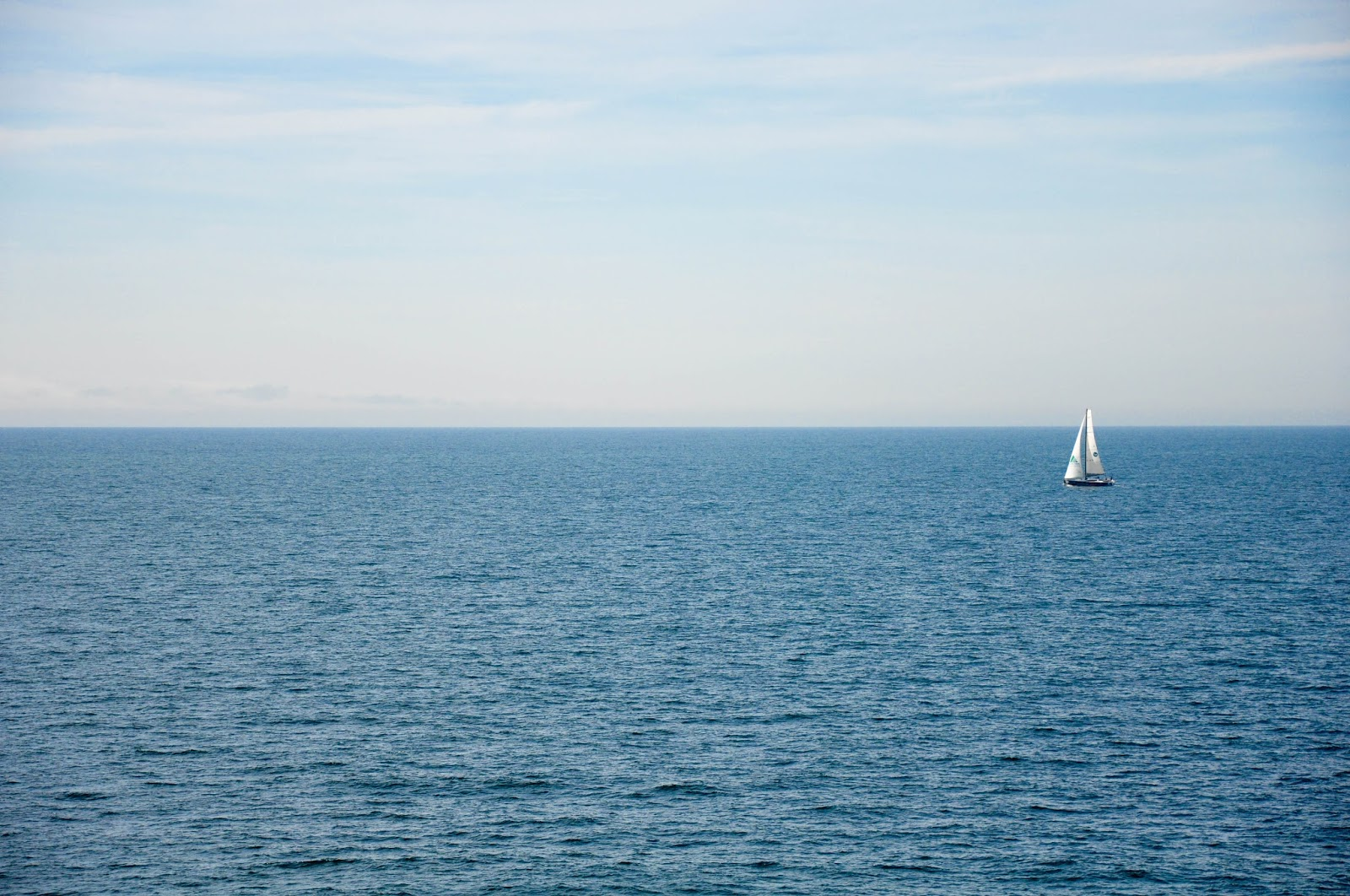 Blue sky, blue sea, The English Channel