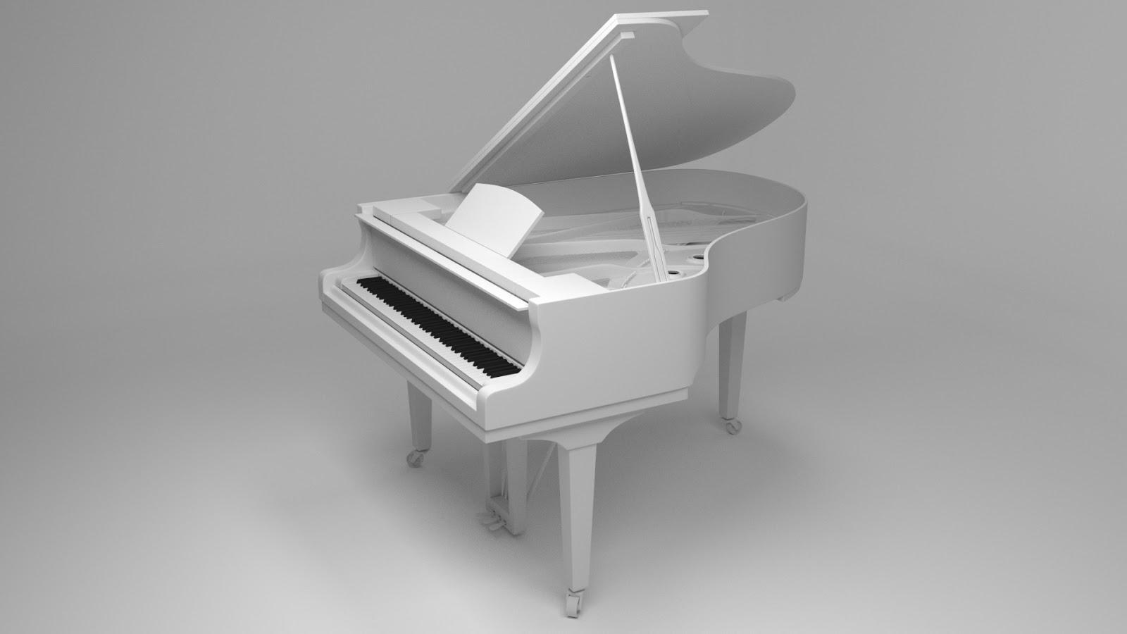 Free 3D Grand Piano .blend file