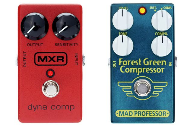 MXR Dyna Comp Compressor M102 Vs Mad Professor Forest Green