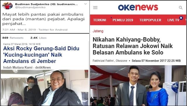 Sindir Rocky Gerung dan Tokoh Oposisi Pakai Ambulans, Budiman Sudjatmiko Ditabok Relawan Jokowi