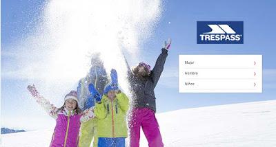 Trespass oferta de ropa de esqui de esta marca