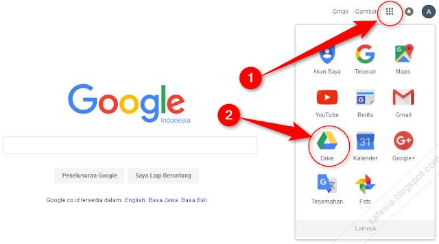 Gbr1. cara masuk ke google drive