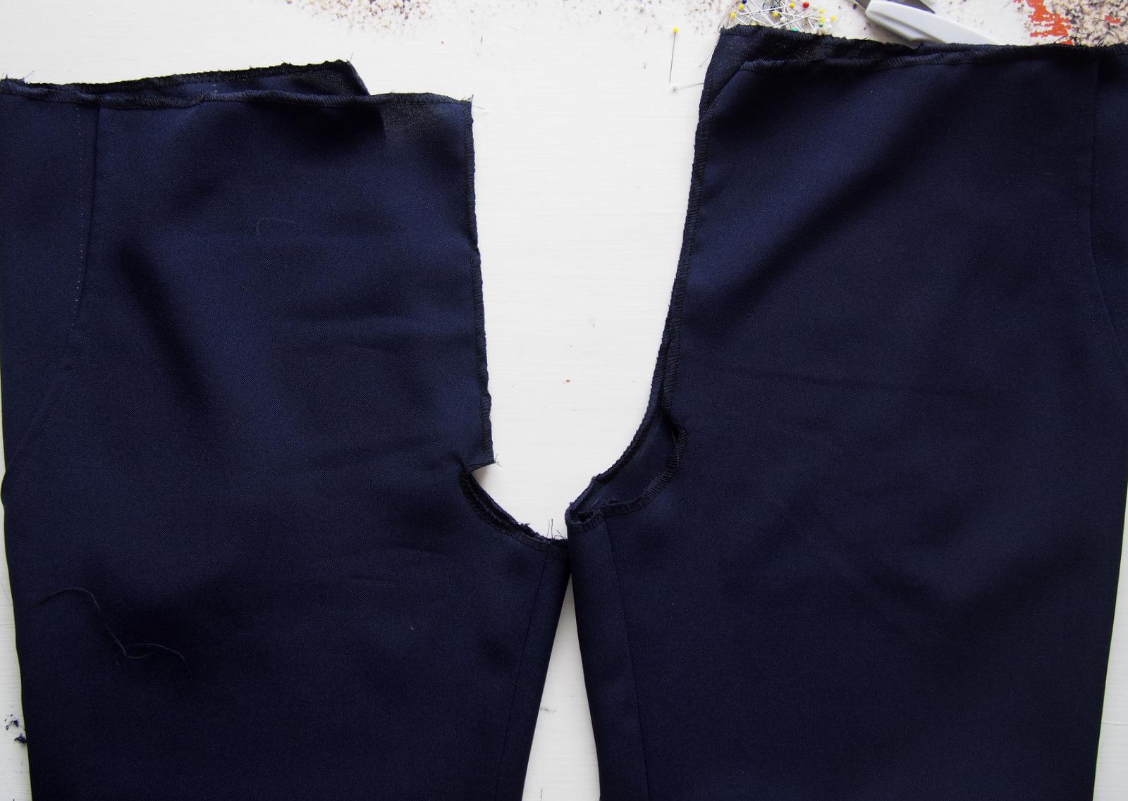05d36614cf55 SIY  ako sme šili tmavomodré šortky    dark blue shorts - Blogerky.cz