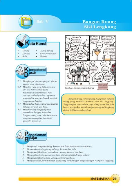 Matematika Di Sma Materi Ajar Bab V Bangun Ruang Sisi Lengkung Kelas 9