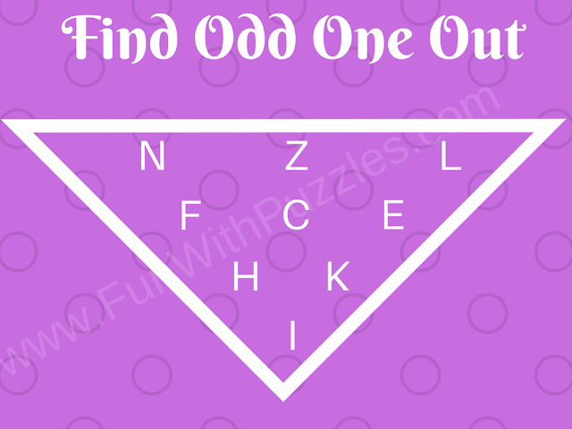 Can you find Odd Letter Out? Medium Difficulty Picture Riddle