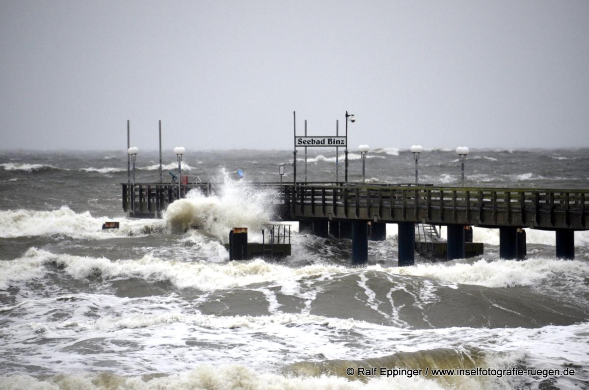 Binz Sturmflut 2021