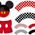 Mickey Party: Free Printable Cupcake Wrappers and Toppers.