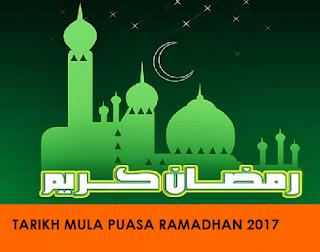 tarikh puasa ramadhan 1438h