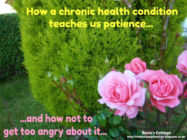 Slow and steady wins the race: How a chronic, long term health condition teaches us patience and how not to be too angry about it...