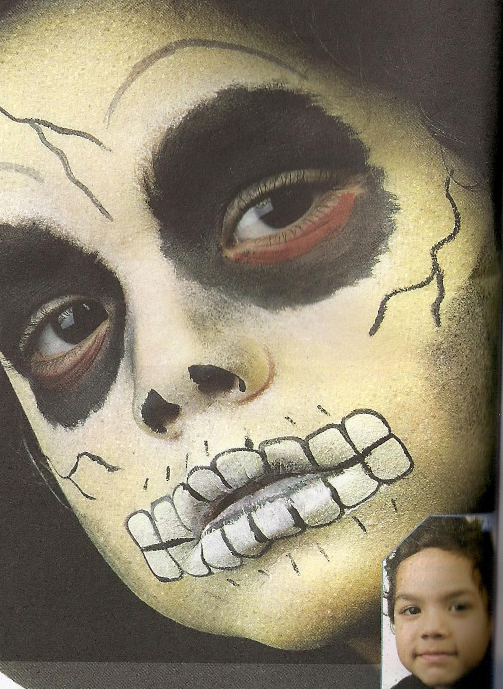 Manualidades luna clara maquillajes for Pinturas de cara para halloween