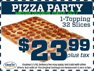 free Pizza Inn coupons march 2017