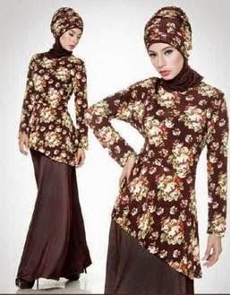 Koleksi Model Baju Batik Muslim Modern Tren