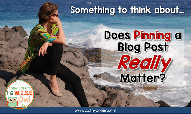 Does pinning matter? I have been told to make sure I pin my posts, but didn't do it for every post.  Then, when a few posts I thought were good weren't read, I decided to try it and see if it mattered.  You'll have to read it to find out.