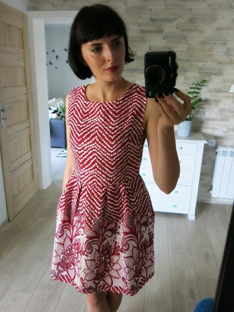Piękna czerwono biała sukienka SammyDress ♥