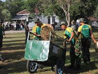 Hormati Jasa Pahlawan, Brigif Raider 9 Kostrad Gelar Karya Bhakti Pembersihan TMP Patrang