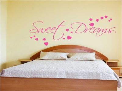 Gambar motif stiker dinding kamar tidur terbaru