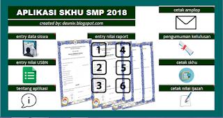 aplikasi skhu smp 2018 format excel