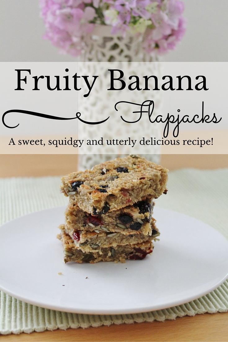 Homemade fruity banana flapjacks recipe