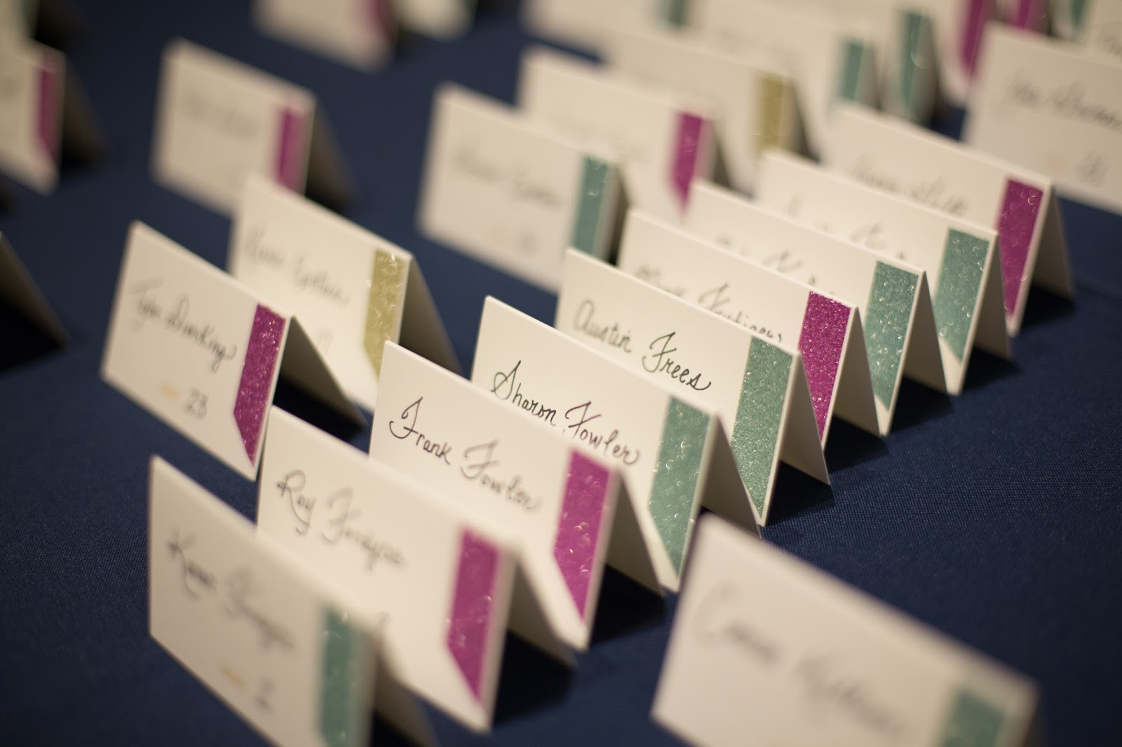 cute idea for name cards