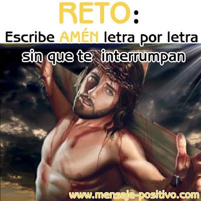reto jesus escribe amen