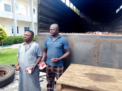 Faces Of Men Caught With Truckload Of Live Ammunition (Pics)