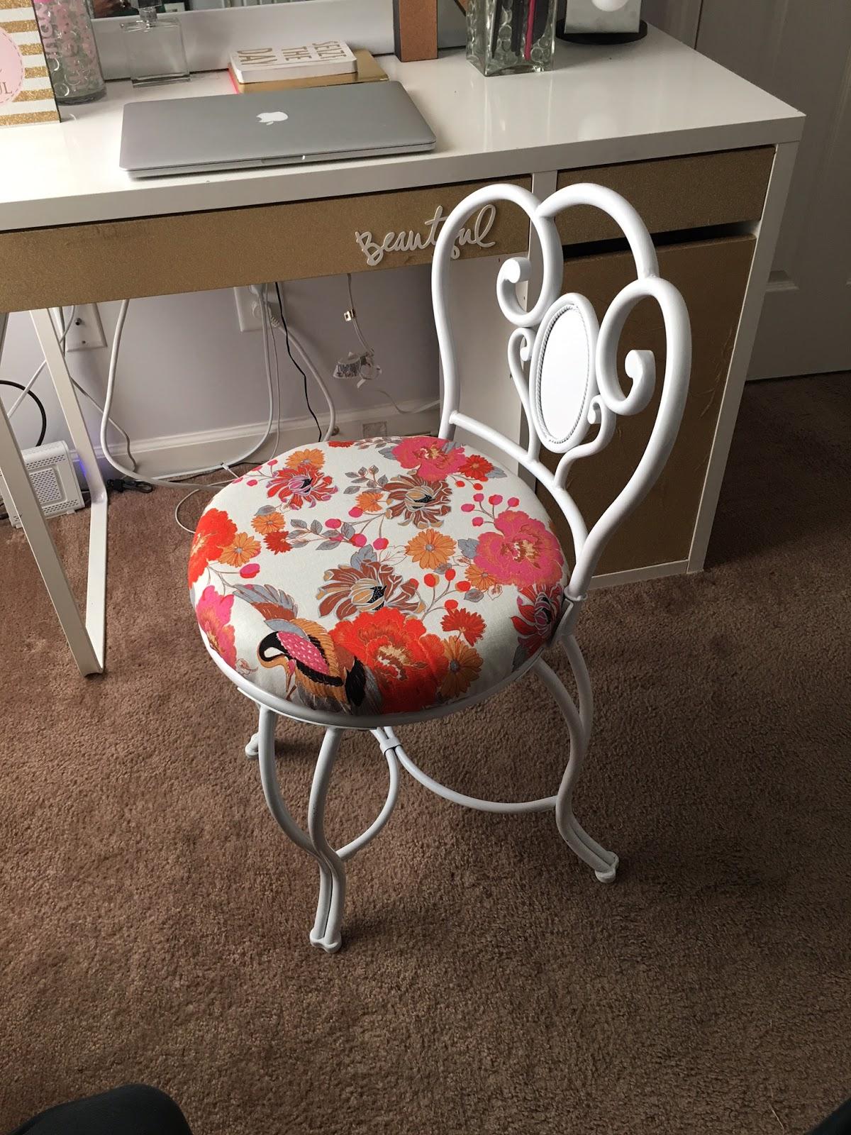 Vanity Stool Diy Stool: Vanity Chair Makeover