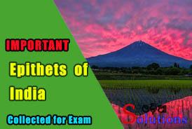 Epithets of India