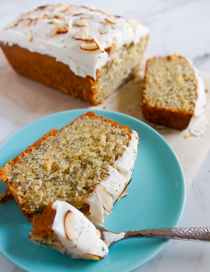 Almond Poppy Seed Loaf Cake Bake At 350