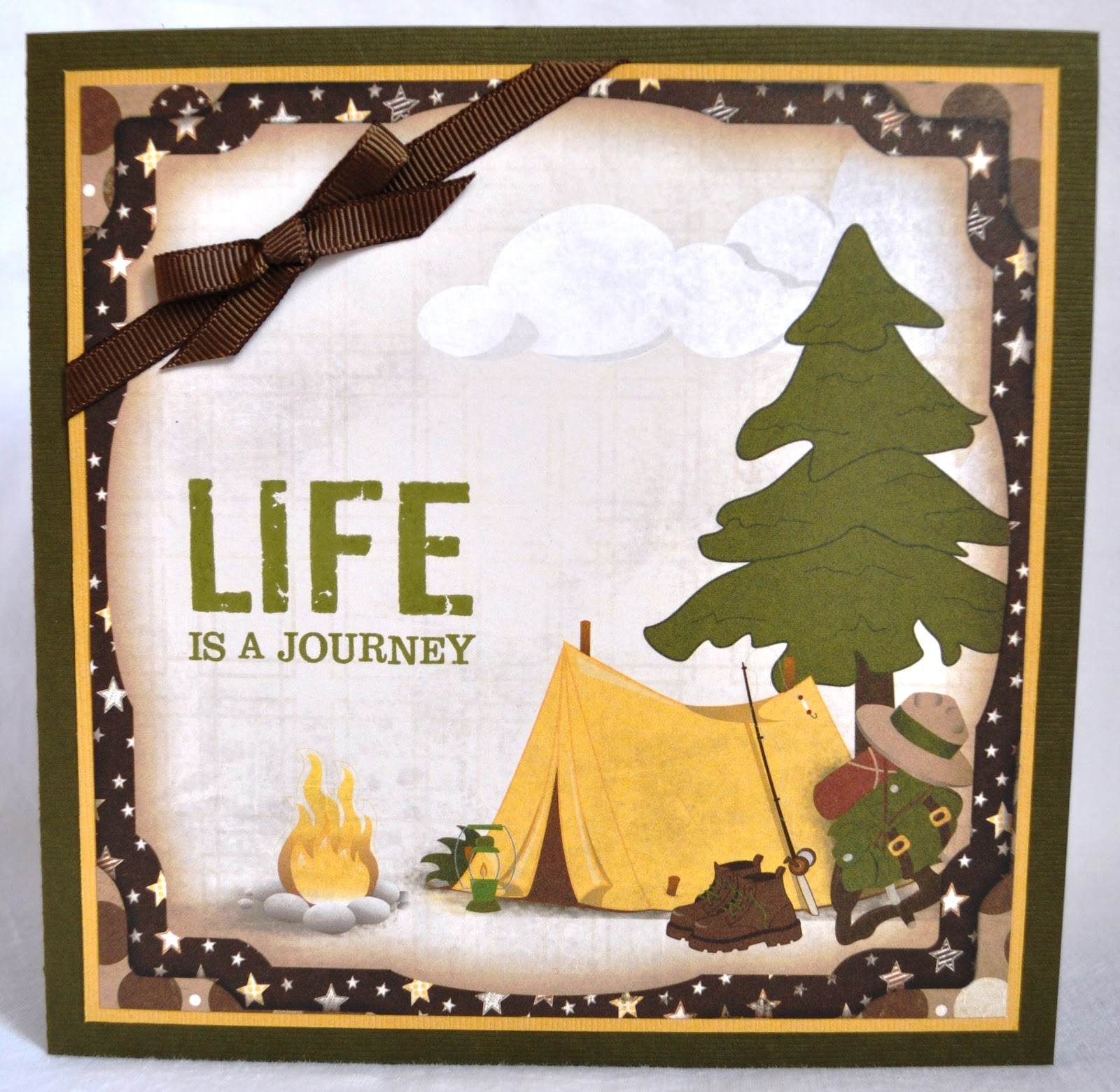 DAT'S My Style Camping Birthday Card & Gift Bag