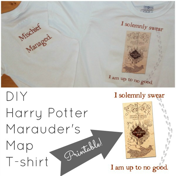 Marauder's Map shirts