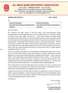 Banks Union Letter