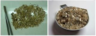 diamantes recuperados de placeres do Morro do Chapadão no Mato Grosso