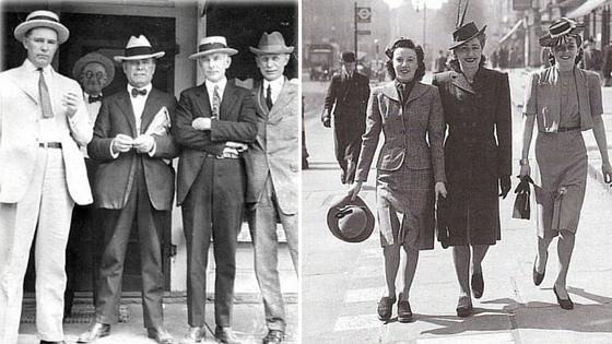 Roupas nos anos 40