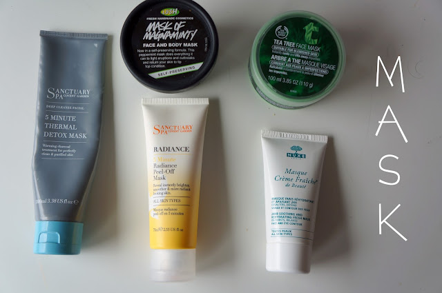 Face Mask, Sanctuary Spa, Lush, Nuxe, Body Shop, Clay Mask