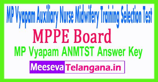 Madhya Pradesh Auxilliary Nurse Midwifery Training Selection Test Vyapam ANMTST Answer Key 2017 Download