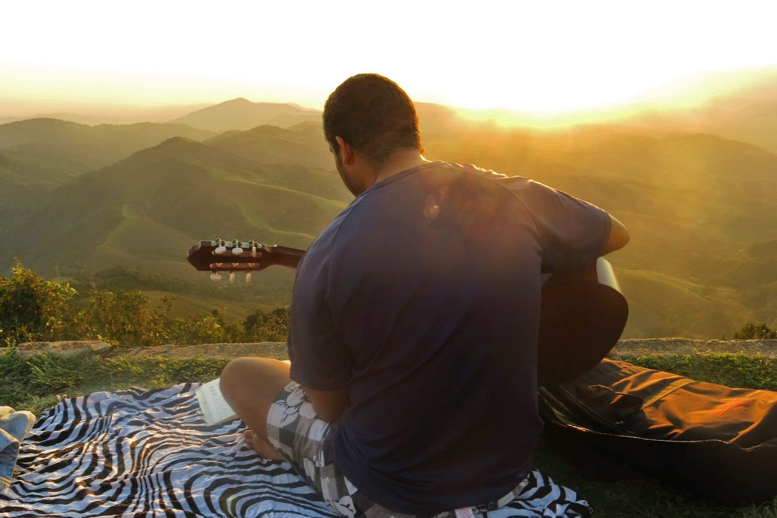 Fim de tarde no Pico Agudo, em Santo Antônio do Pinhal
