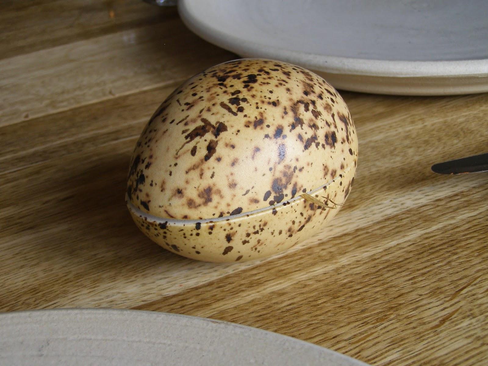 Smocked quail eggs