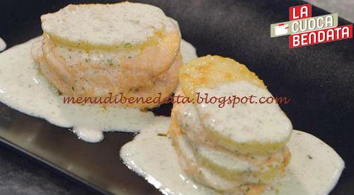 Millefoglie di patate e salmone ricetta Benedetta Parodi