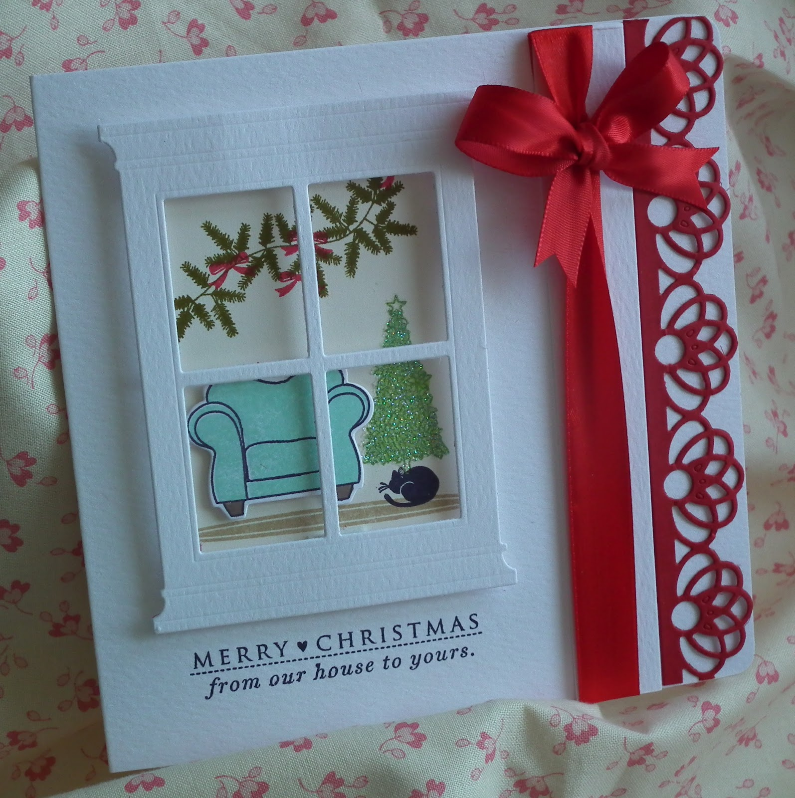 "Crafty sew""n""sew: Christmas window card"