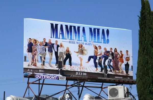 Mamma Mia Here We Go Again movie billboard