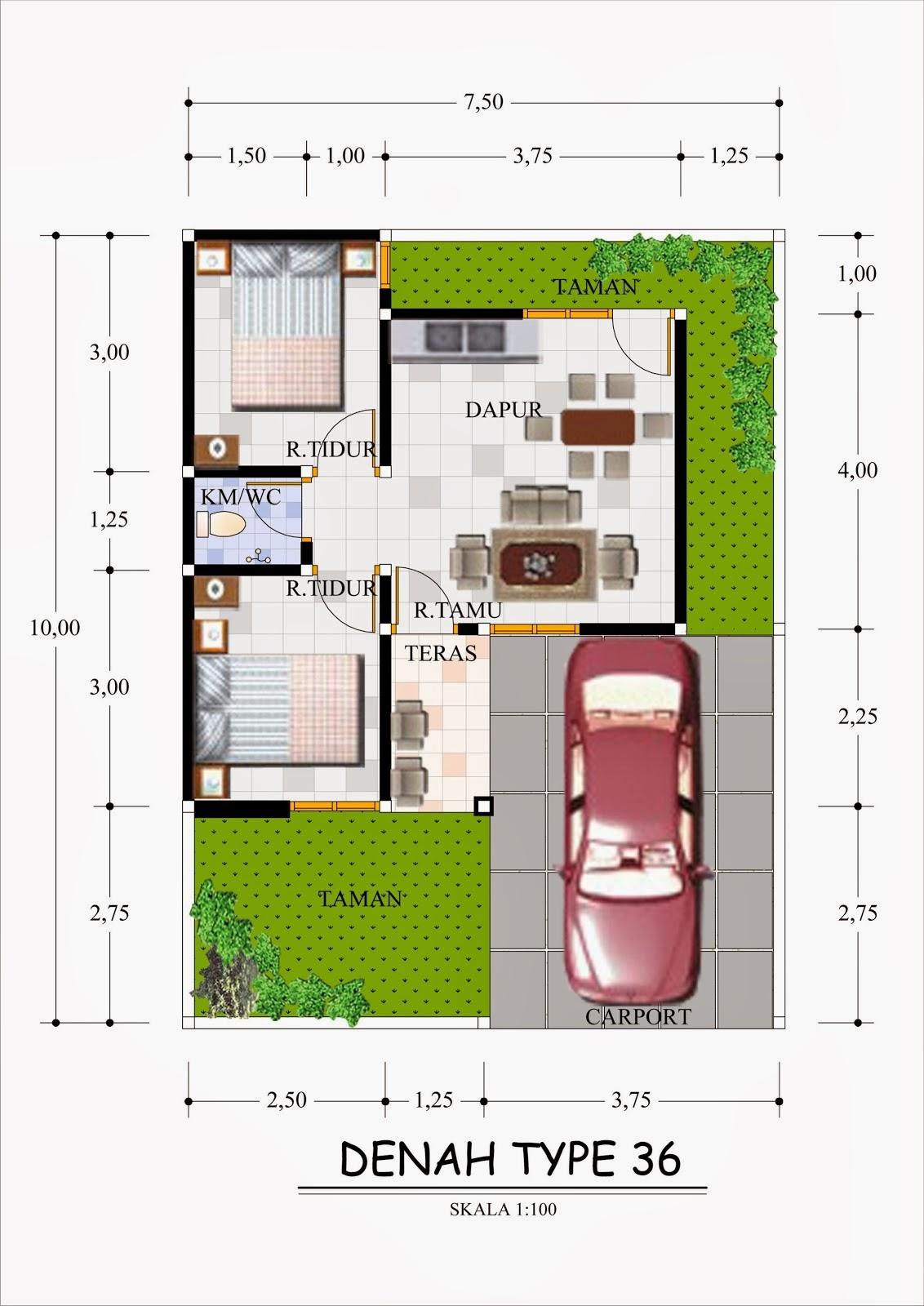 54 Desain Taman Belakang Rumah Type 36 Terbaik